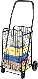 Whitmor Rolling Utility Black Shopping Cart