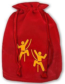 TPSXXY Rock Climbing Large Christmas Drawstring Bag Santa Present Bag Basket Gifts Sack