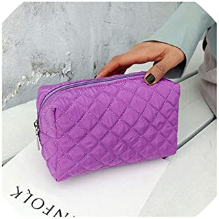 New Women Multifunction Travel Portable Cosmetic Bag Makeup Case Pouch Toiletry Organizer Storage Black Blue Pink Purple Orange,Purple