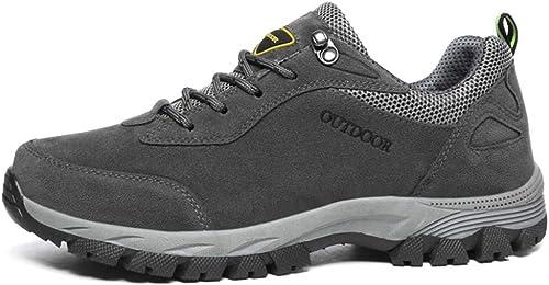 DSX Chaussures de Randonnée en Plein Air, Chaussures de Sport, Chaussures de Course à Pied pour Camping, gris, 44EU