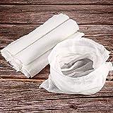 6 Paquets Tissu ou Sacs Mousseline Doux en Coton, Convient pour Filtrer les Fruits, le Beurre, le Vin, Filtre à Lait à la Maison (Sac Mousseline 50 x 30 cm)