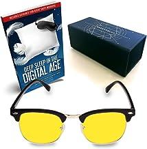 SafetyBlue Day Glasses 40% Blue Blocking for Men & Women | Reading Glasses | Gaming Monitors | Computer Glasses | UV Light Protection Glasses | Headache Relief | Non-Prescription Glasses (yellow)