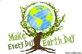 EvolveFISH Make Every Day Earth Day Bumper Sticker 5