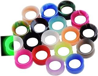 36pcs/22pcs Soft Silicone Ear Gauges Flesh Tunnels Plugs Stretchers Expander Ear Piercing Jewelry 2g-3/4 Mixed Color Set