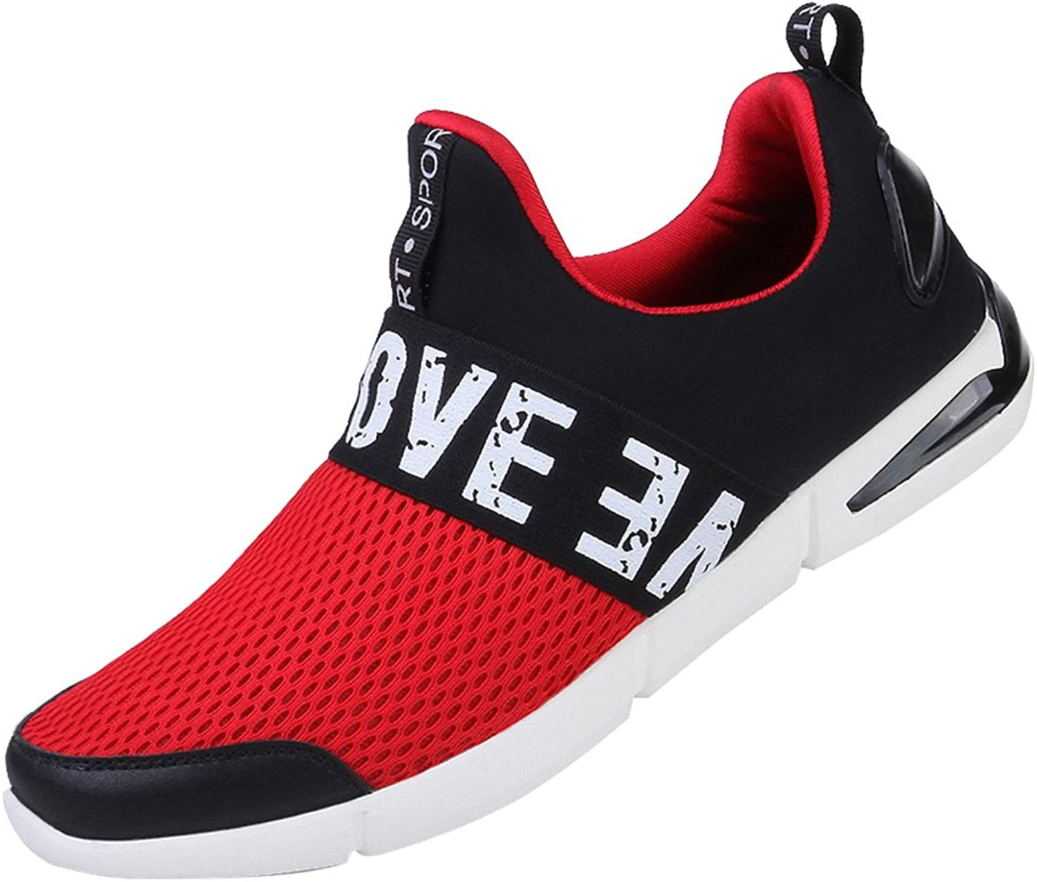 Snowman Lee Men Lightweight Fashion Mesh Sneakers Slip On Breathable Athletic Casual Sports Running shoes
