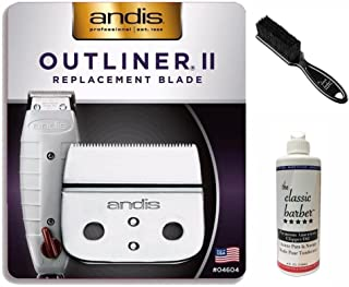 Andis Outliner II Trimmer Replacement Blade Includes 04604 Blade, Classic Barber Blade Oil & Brush Kit