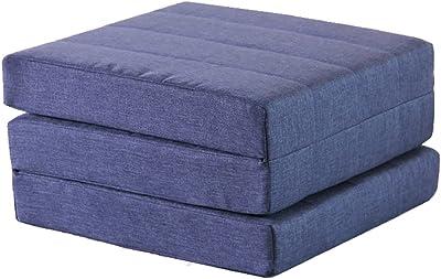 JUEJIDP Colchonetas Gruesas colchón de Espuma Plegable colchón de Oficina Almohadilla para Dormir Acolchado para Ventanas