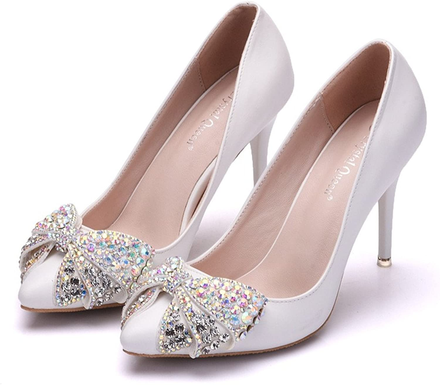 HYP Wedding Women shoes Wedding shoes Women Pumps Closed Toe Wedding Party Court shoes Bridesmaid Bridal shoes color high-Heeled Single shoes