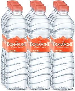 Bonafont, Agua Natural, 600ml, 12 Pack