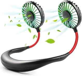 comprar comparacion GOAMZ Mini Ventilador Micro USB de Cuello Portatil Mano Libre Recargable Ventilador Electrico para Coche Deporte Oficina H...