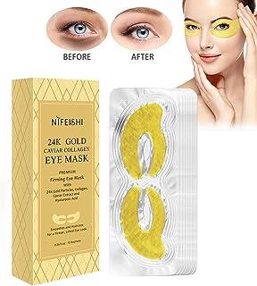 10 Piezas Máscara para Los Ojos De Colágeno,Caviar Ojos