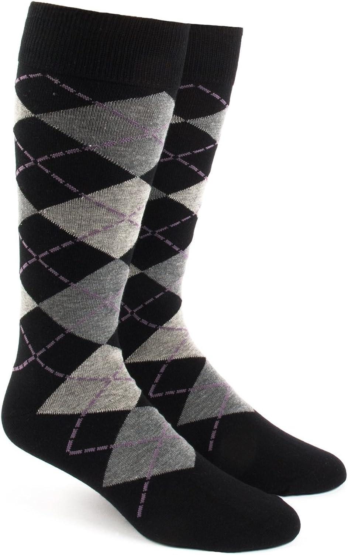 The Tie Bar Argyle Men's Cotton Blend Dress Socks