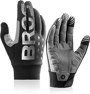 ROCK BROS Cycling Gloves Motocycle Mountain Bike Gloves Full Finger Biking Gloves for Men Bicycle Gloves