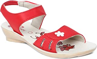 PARAGON Kids Red P-Toes Casual Sandal
