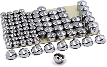 HTT- Chrome Bolts Toppers Caps For 1996-2006 Harley Road King Twin Cam Flh Model