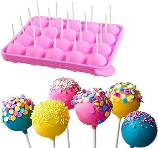 UG LAND INDIA 20 Hole Lollipop Round Silicone Cake Pop Mold Ball Shaped Die Mold Silicone Lollipop Chocolate Cake Baking I...