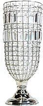 Vaso de Cristal, Cinza, 54cm, Sarquis Samara