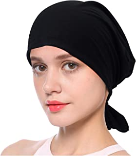 L'VOW Soft Turban Head Scarf Elastic Chemo Caps Cancer Beanie Hats for Women
