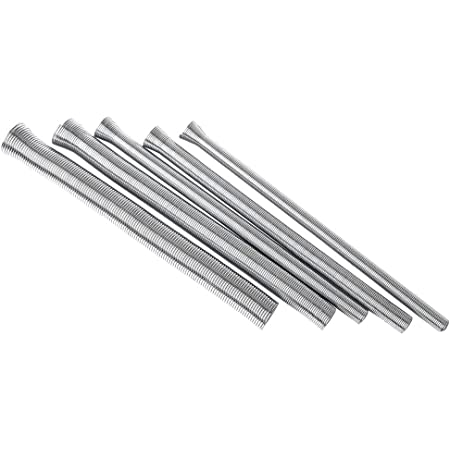 Kits de doblador de tubos de resorte de alambre de acero 5 PCS, Juego de muelles de doblado de tubos, Primavera dobladora de tuberías de fontanería, 1/4″, 5/16″, 3/8″, 1/2″, 5/8″ (Plata)