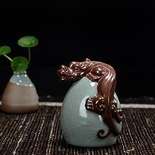 Hoobar Tea Pet Zisha Kung Fu Tea Accessories Pi-Xiu Ceramic Decoration Ornaments for Tea Fans (pixiu-2)