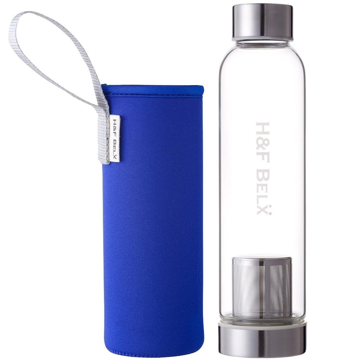 推測病んでいるライナーH&F BELX ガラスタンブラー(M 550ml)-ブルー
