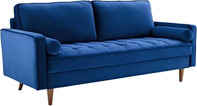Amazon.com: Wood & Style Furniture Sofa, Fabric, Cream Home ...
