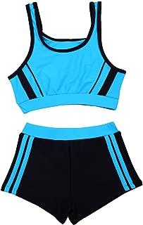 SherryDC Big Girls' Two Pieces Sporty Tankini Bikini Swimwear Bathing Suit with Shorts