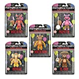 FNAF Toys Five Nights at Freddy's Toys Action Figures Glow in The Dark Pizzaria Simulator (Set of 5)