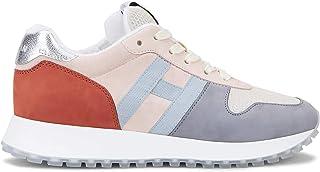 Hogan Sneakers Donna H383 Grigio Rosa e Arancione - HXW4290CM40 N3G0QWZ - Taglia