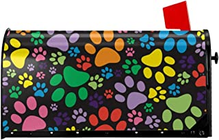 Foruidea Colorful Dog Cat Puppy Paws Mailbox Covers Magnetic Mailbox Wraps Post Letter Box Cover Standard Oversize 21 X 18 Mailwrap Garden Home Decor