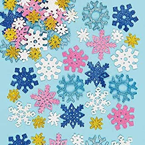 Glitter Foam Snowflake Stickers