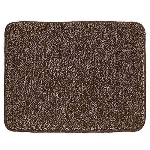 mDesign Alfombras de baño – Alfombra de ducha suave y de secado rápido – Alfombra antideslizante de microfibra de poliéster – marrón