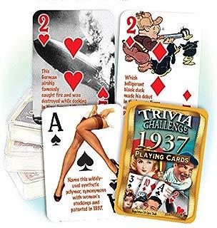 Flickback Media, Inc. 1937 Trivia Playing Cards: 1937 Birthday