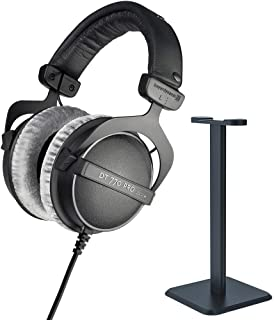 $149 » beyerdynamic 459046 DT 770 PRO 250 Ohms Studio Headphones Bundle with Deco Gear Pro Audio Headphone Stand Matte Black