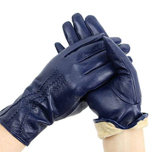 7744495cd Ladies Soft Real Genuine Leather Lined Warm Winter Gloves 3 stitch design  Medium Size (comes