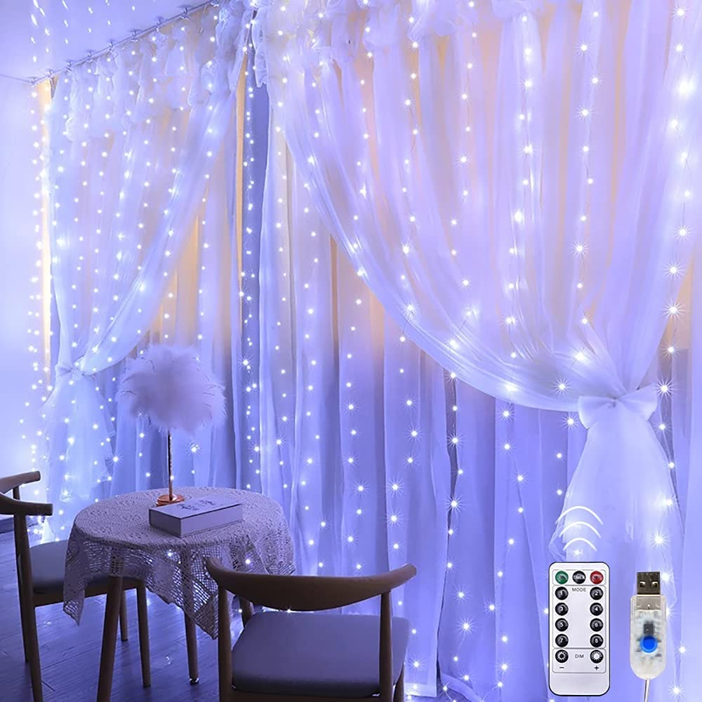 Window Curtain String Light LED Lights 2021 spring and Direct store summer new 300 8 9.8x9.8 ft Mo LEDs