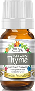 Pure Gold White Thyme Essential Oil, 100% Natural & Undiluted, 10ml