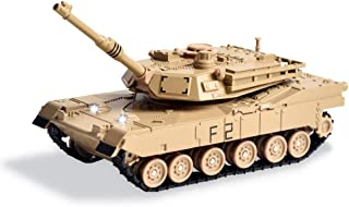 M1A2 Abrams Main Battle Tank - Alloy Military Vehicle Diecast Model - Electronic Toy with Light and Sound, 5.9 Inches