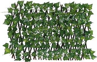 Uitbreiding Trellis hek intrekbare hek, kunstmatige tuin plant hek UV beschermde tuin decoratie outdoor tuin decoratie (Co...