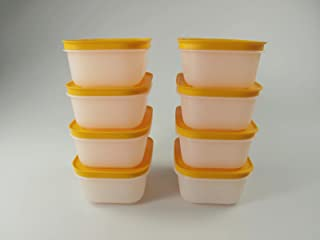 TUPPERWARE Caja de Congelación de 450 ml blanco naranja (8) 29494