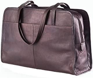 Clava Three Section Leather Tote Bag