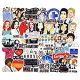Grey's Anatomy TV Show Stickers for Water Bottles 50pcs Funny Laptop Scrapbook Computer Luggage Phone Notebook Graffiti Decals