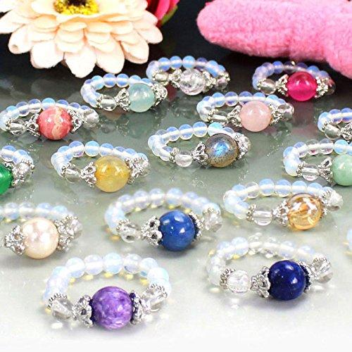 かわいい天然石リング/パワーストーンのリング(指輪) メンズ/レディース【ブルーターコイズ 】 1点