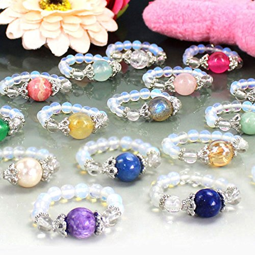 かわいい天然石リング/パワーストーンのリング(指輪) メンズ/レディース【アンバー】 1点