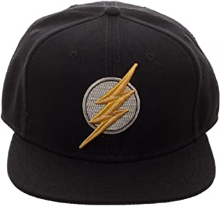 DC Comics Justice League Movie Flash Icon Embroidered Snapback Black