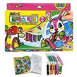AMOS Glass Deco Window Sticker Art 12 Colors Sets, Model: , Toys & Play
