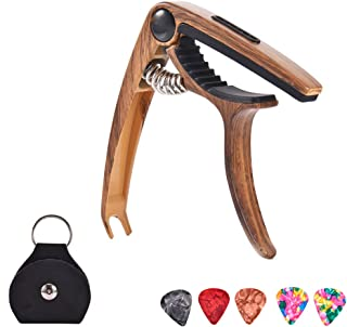 bulingbulingseason Acoustic Electric Classical Guitar Pick Holder Alloy Guitar Capo Clip Guitar String Clamp