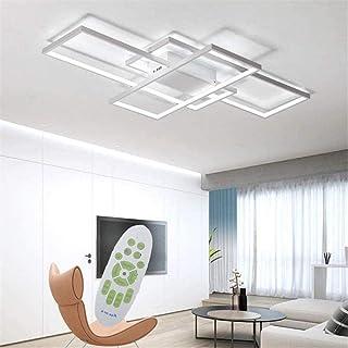 LED Dimmable Plafonnier Salon Lampe avec Télécommande Moderne Plafond Plafond Creative Métal Acrylique Design Plafond Lamp...
