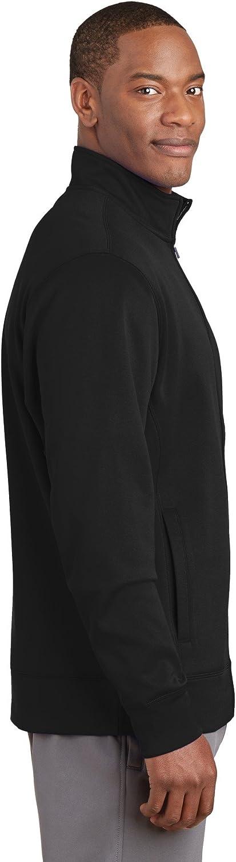 Sport-Tek Sport-Wick Fleece Full-Zip Jacket ST241, Black, Medium