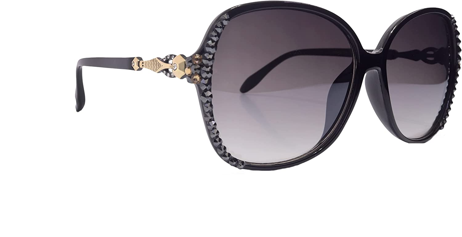 Max 72% OFF Bling Women Sunglasses Adorned with Crystals Pr UV Genuine Opening large release sale 100%